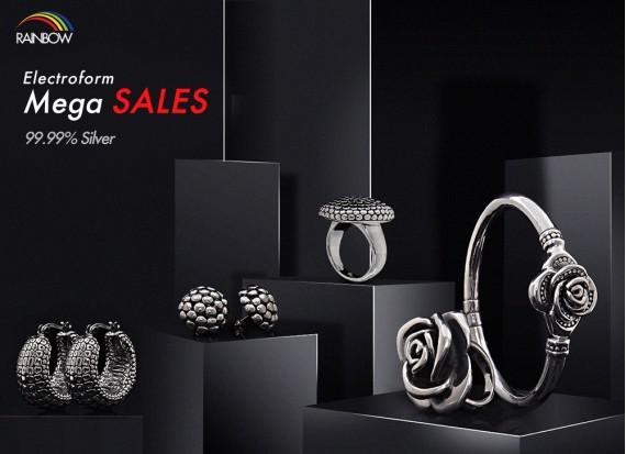 Electroform Mega Sales 99.99% Silver