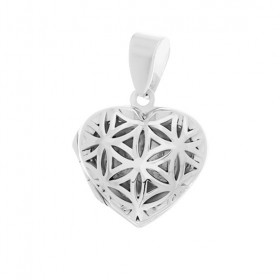 Seed of Life Locket - Heart 17 mm.