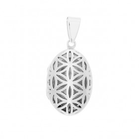 Seed of Life Locket - Oval 16x22 mm.
