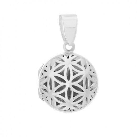 Seed of Life Locket - Round 17 mm.