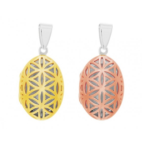 Seed of Life Locket - TWO-TONE Plated (Rose gold or Gold)