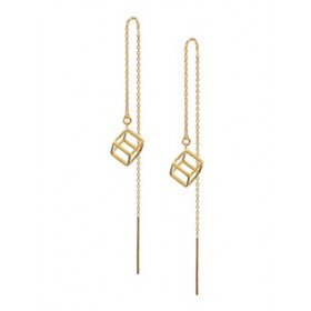 Threader Earrings - Cubic- Gold