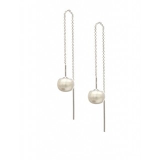 Threader Earrings - Ball Pearl