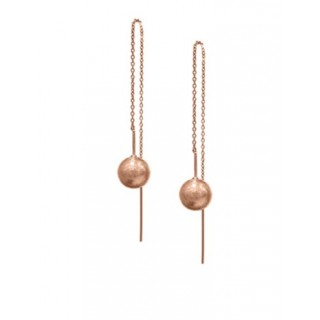 Threader Earrings - Ball Scratched
