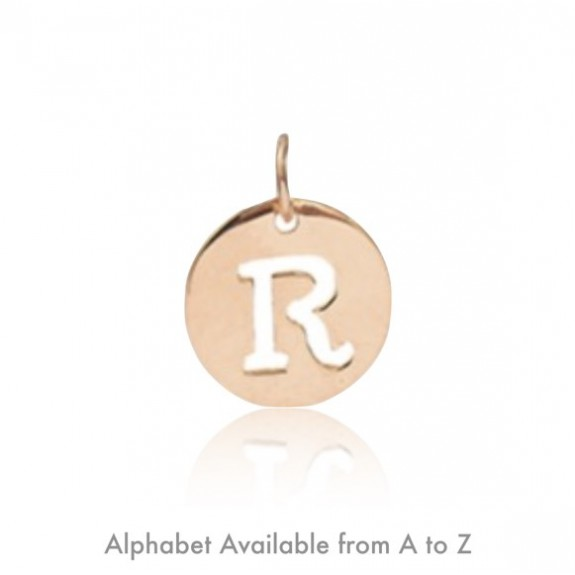 Alphabet Disk (Pendant) 15mm.
