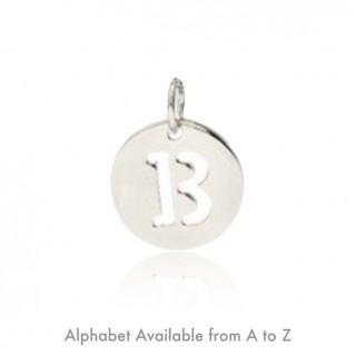Alphabet Disk (Pendant) 15mm.
