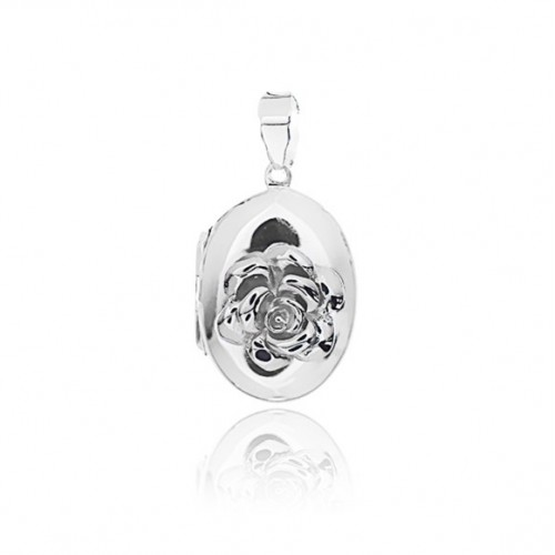 Rose Locket - Oval Small