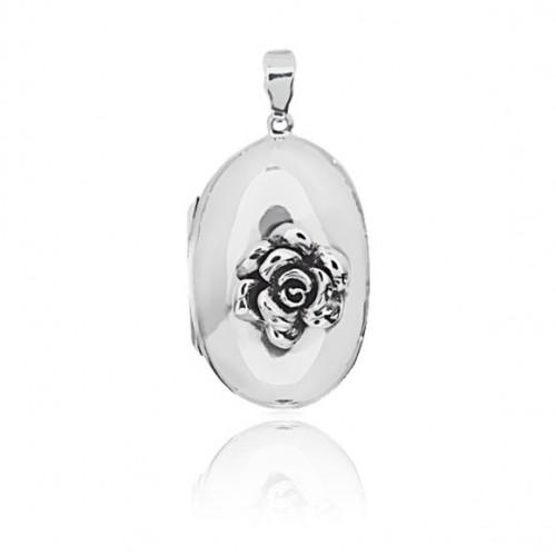 Rose Locket - Oval Large