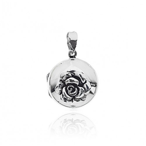 Rose Locket - Round 22mm