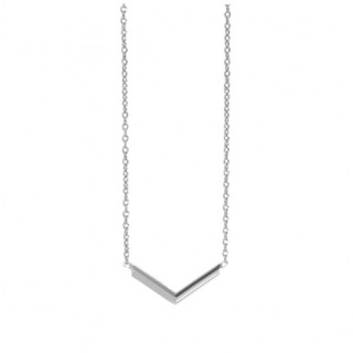 The V Necklace - Silver