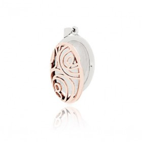 Floral Locket - Oval - Rose Gold Two-Tone