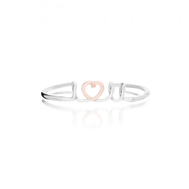 """I Love You"" 'Handwritten' Bangle"