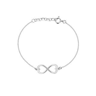 Double Hearts Infinity Bracelet