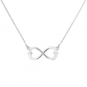 Double Hearts Infinity Necklace