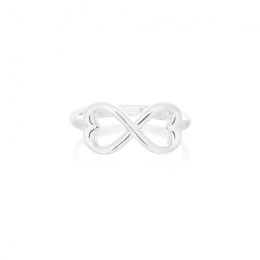Double Hearts Infinity Ring