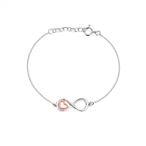 Mini Heart Infinity Bracelet