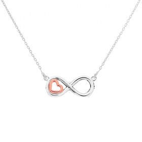 Mini Heart Infinity Necklace