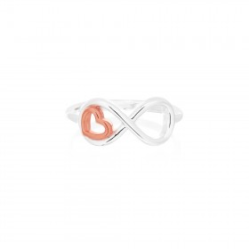 Mini Heart Infinity Ring