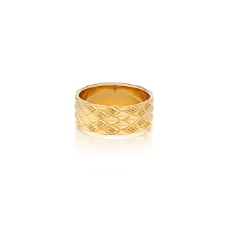 The Serpent Scale Ring -9 mm. / Gold plating