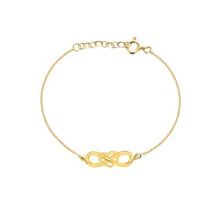 'Eternal Heart Bracelets' Gold