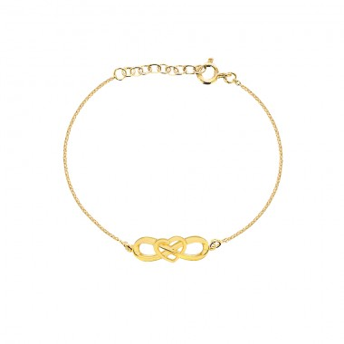 'Eternal Heart Bracelets' Gold