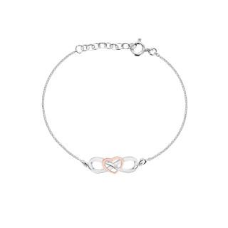 'Eternal Heart Bracelets' Silver PurePink