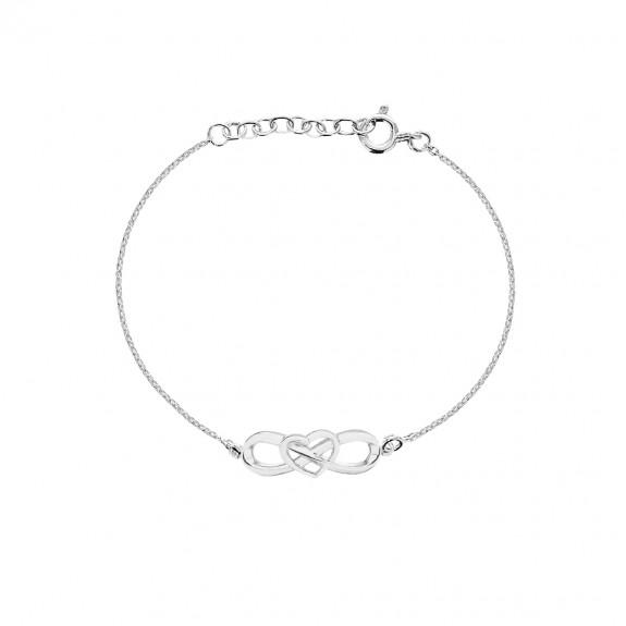 'Eternal Heart Bracelets' Silver