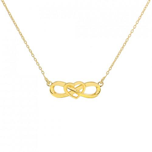 'Eternal Heart Necklaces' Gold