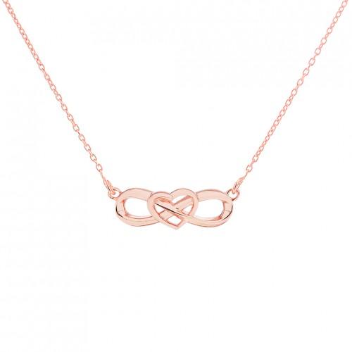 'Eternal Heart Necklaces' PurePink