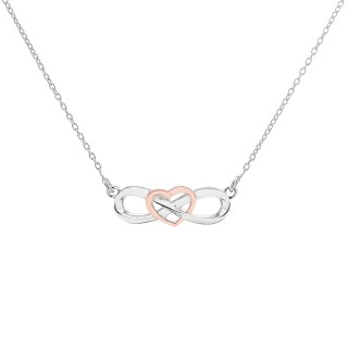 'Eternal Heart Necklaces' Silver Purepink