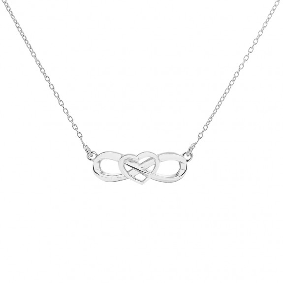'Eternal Heart Necklaces' Silver