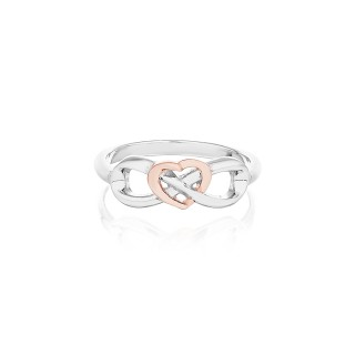 'Eternal Heart Ring' Silver PurePink