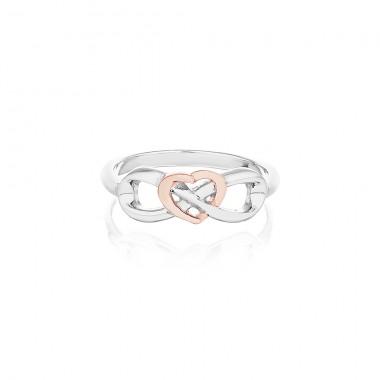 'Eternal Heart Ring' Silver PurePink