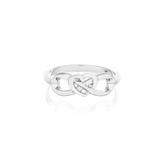 'Eternal Heart Ring' Silver