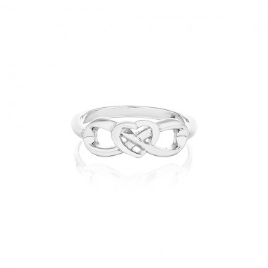 'Eternal Heart Ring' Silver