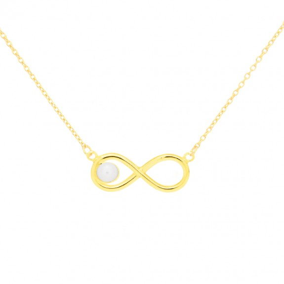 """Infinity Pearl"" Necklace"