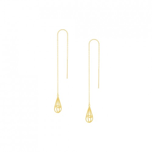 "3D Threader Earrings ""Droplet 3D"""