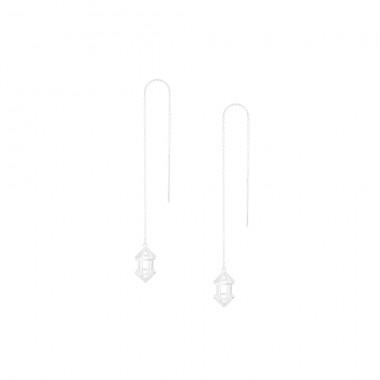 "3D Threader Earrings ""Hex 3D"""