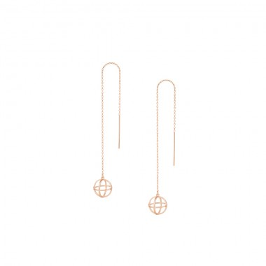 "3D Threader Earrings ""Sphere 3D"""