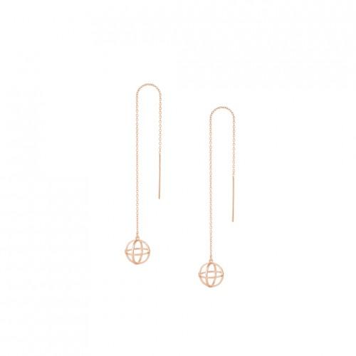 """3D Threader Earrings """"Sphere 3D"""""""