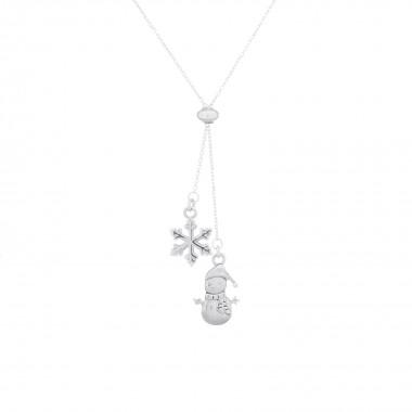 Snowman & Snowflake-Necklace
