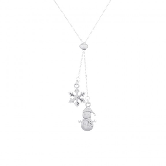 Snowman & Snowflake-Necklace