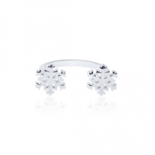Twin Snow Ring - Open ring