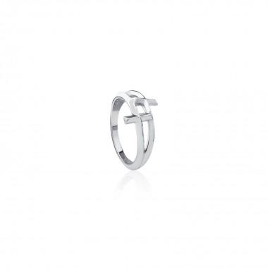 Twin Cross Ring