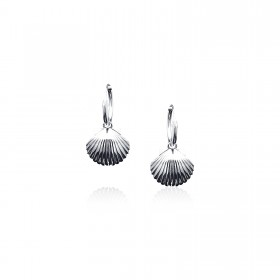 Scallop - Hoop Earrings