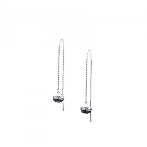 Scallop - Threader Earrings