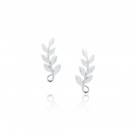 Olive Leaf - Stud Earrings