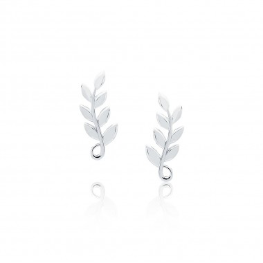 Olive Leaf - Stud Earrings