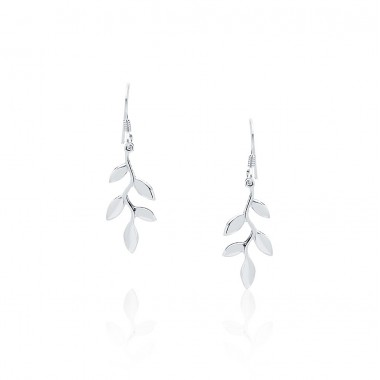 Olive Leaf - Dangling Earrings
