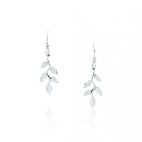 Olive Leaf - Dangling Earrings